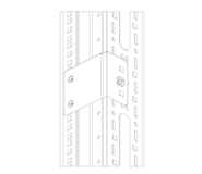 Holders of Vertical Wire Management Panels and Brackets
